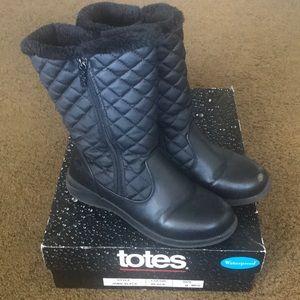 Totes Waterproof Black Boots
